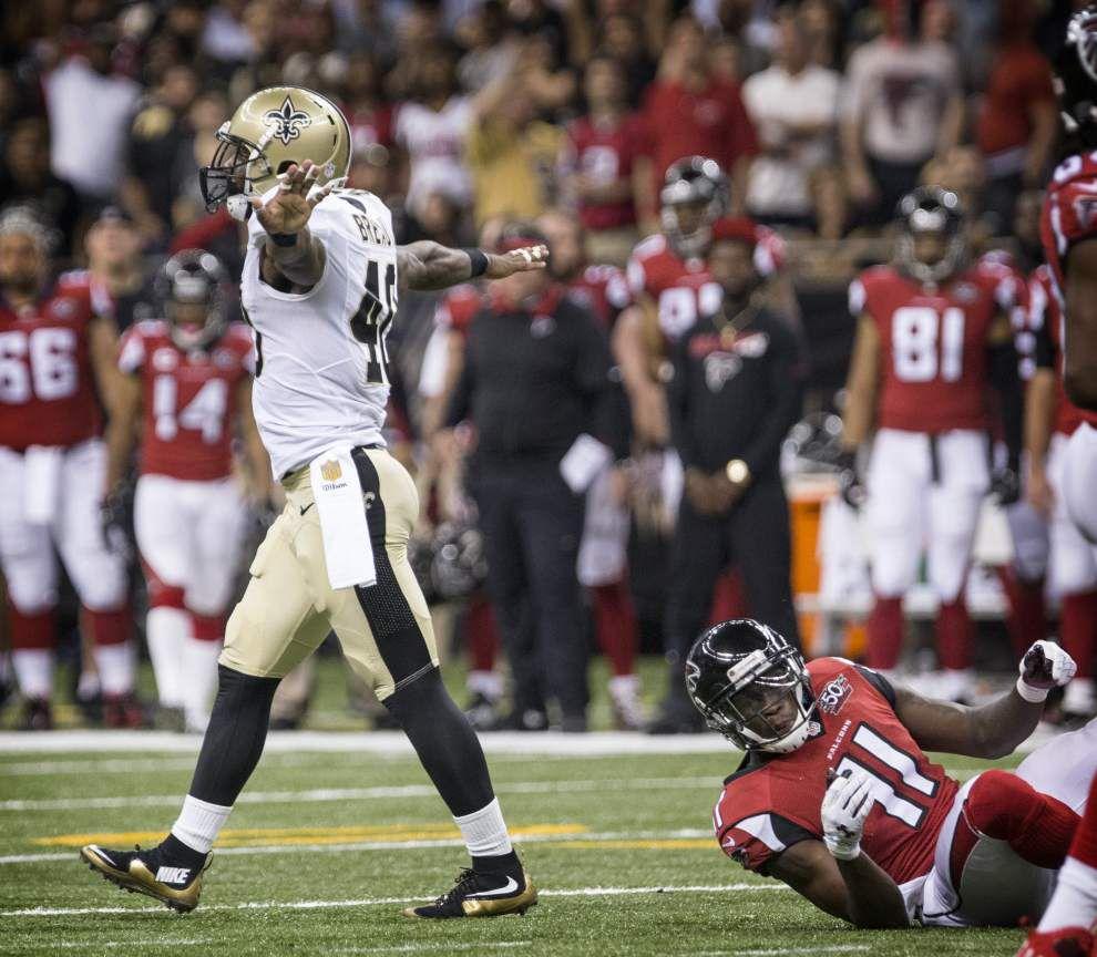 Underhill: Saints cornerback Delvin Breaux aces his biggest test yet, shutting down Falcons' Julio Jones _lowres