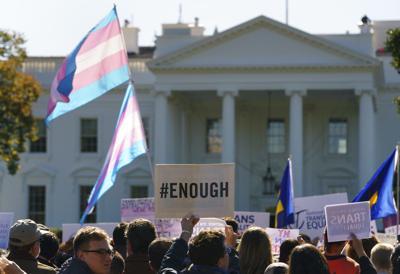 Transgender #WontBeErased rally
