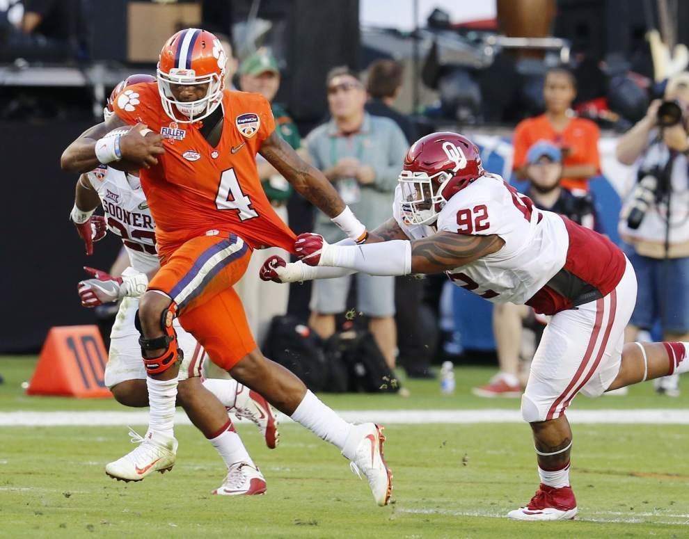 Clemson routs Oklahoma to move into national title game _lowres