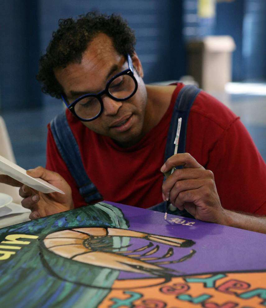 River Views: Young artists dive into waterways mural _lowres