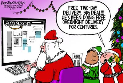 Ho! Ho! Ho! Check out the Winner and finalists in Walt Handelsman's final Cartoon Caption Contest of 2020!