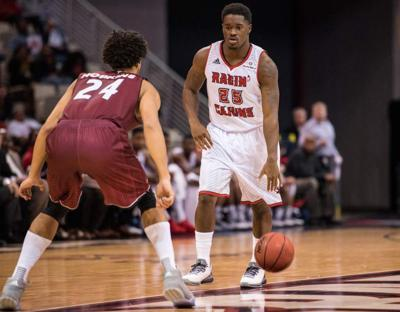 'He's really going to surprise you guys soon:' Elijah McGuire gets his first action with the Cajuns basketball team _lowres