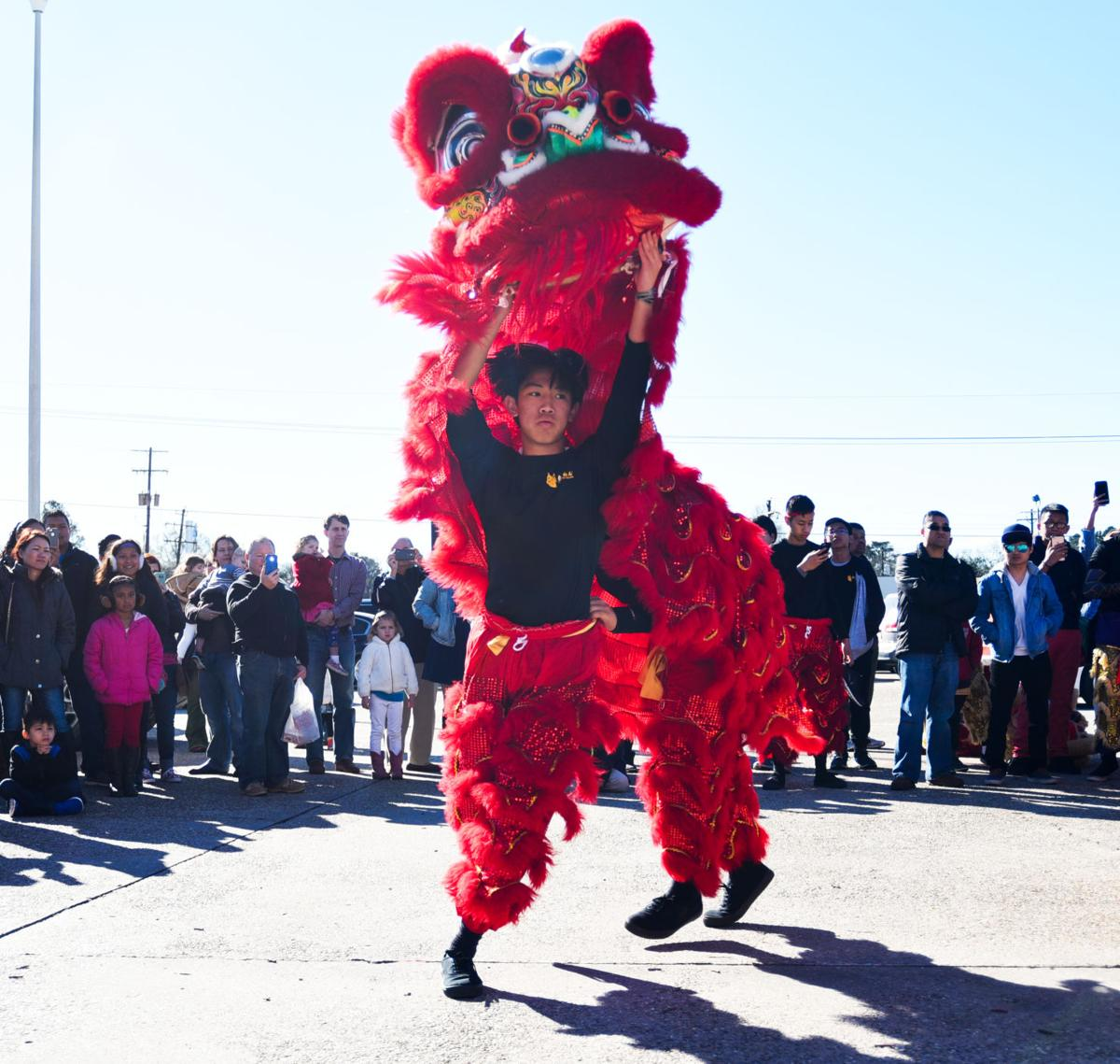 Lion Dance Baton Rouge for Red