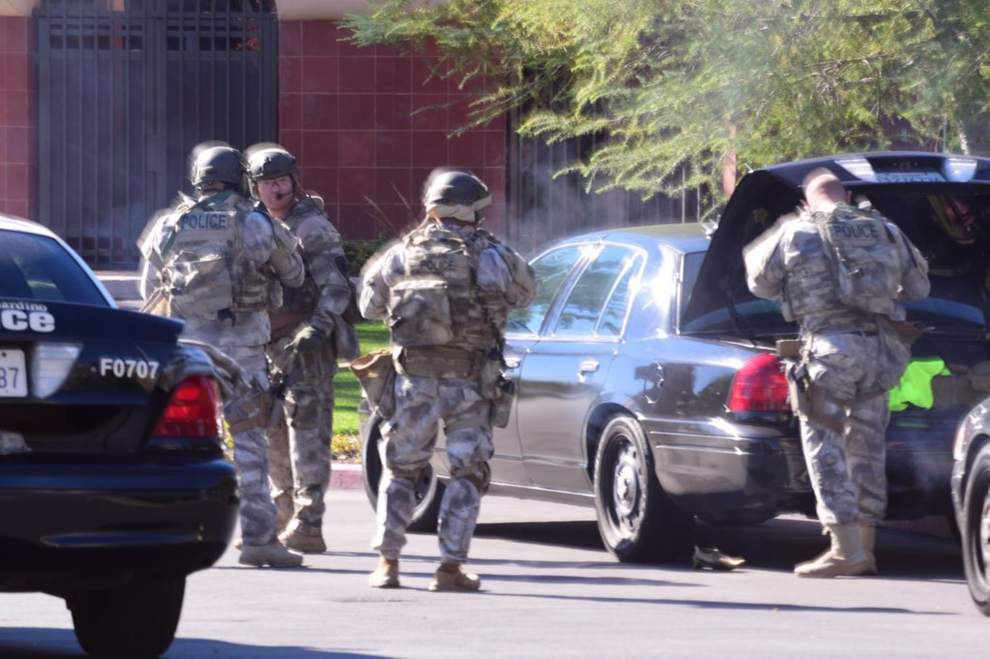 Photos: California shooting leaves 14 people dead; police hunt down suspects _lowres