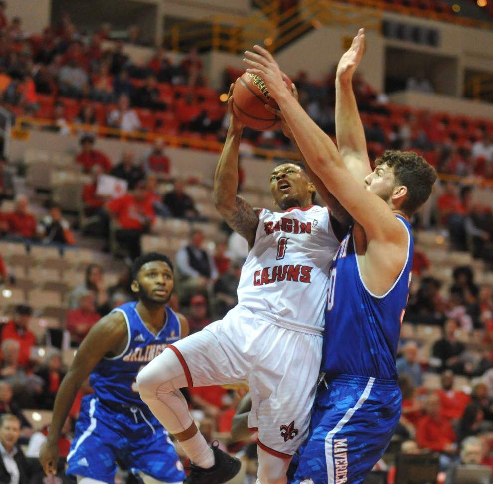 Ragin' Cajuns surge past Texas-Arlington 90-75 for their sixth straight win _lowres