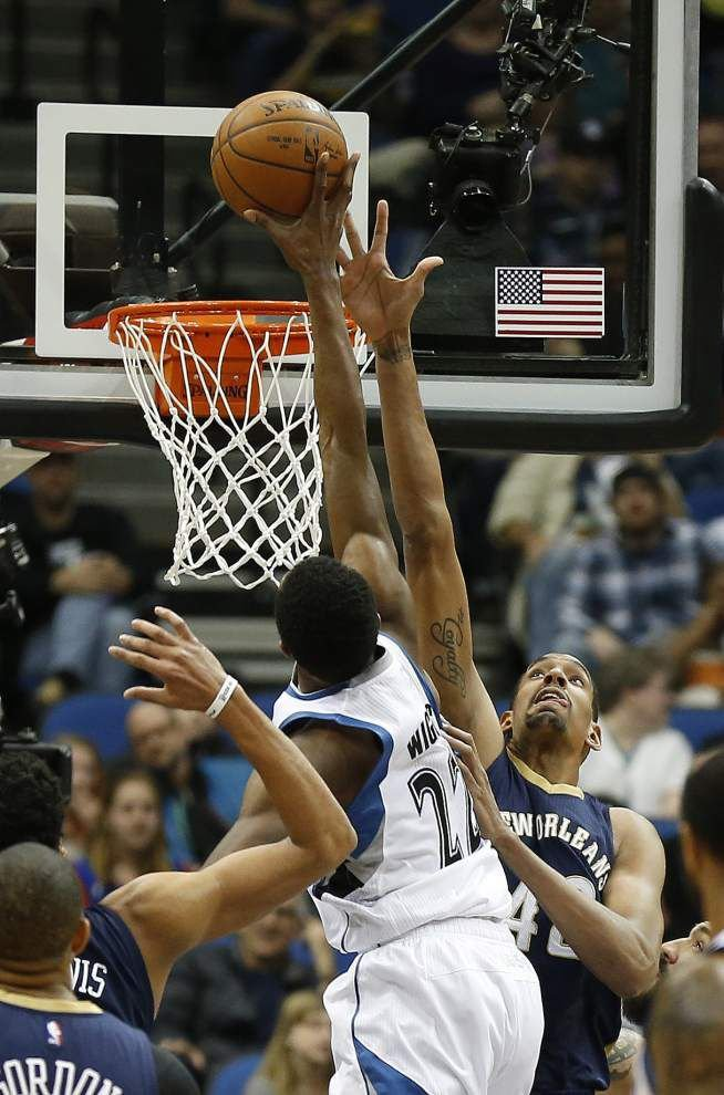 Pelicans erase early deficit, top Timberwolves 92-84 _lowres