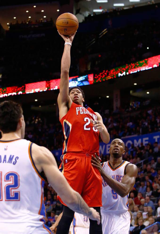 Anthony Davis' huge night sends Pelicans past Thunder 101-99 _lowres