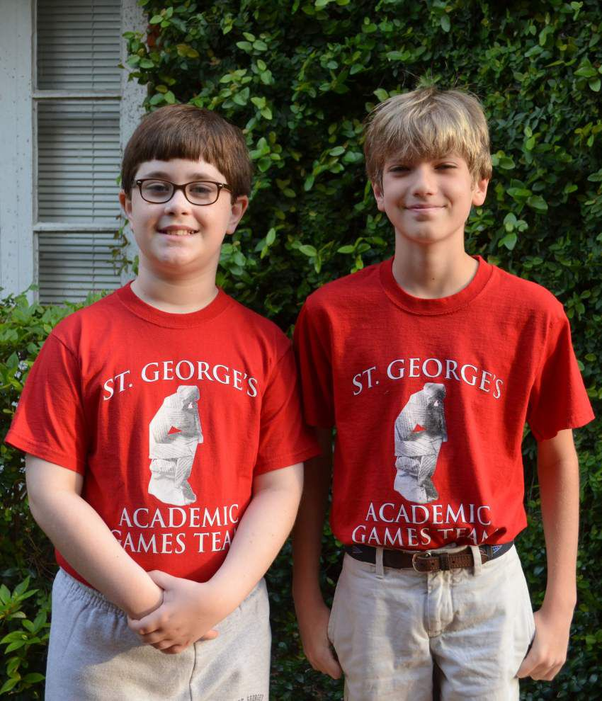Two from St. George's Episcopal School head to academic games nationals _lowres