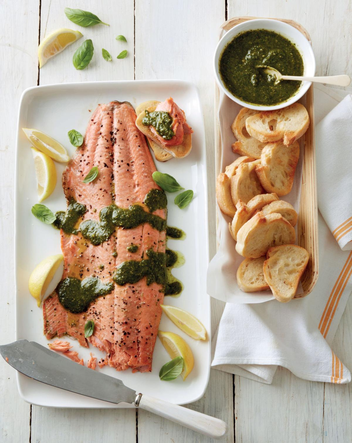 Side Dish Recipe For Salmon With Basil Pesto Food