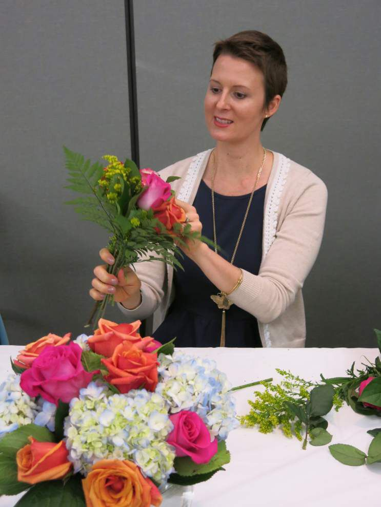 Cancer survivors learn art of flower displays _lowres
