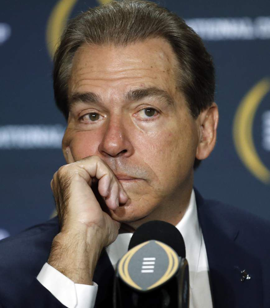 Scott Rabalais: With a shot at yet another national title, Nick Saban is unquestionably college football's best — and maybe the best ever _lowres