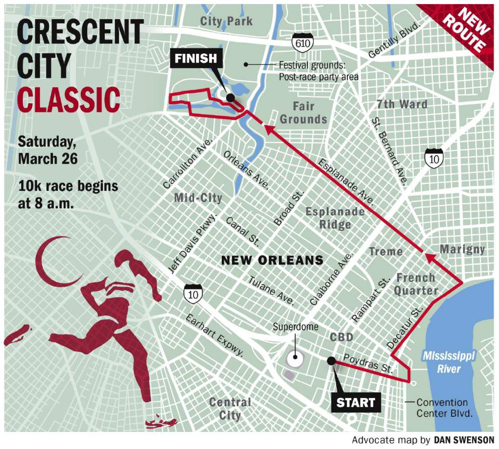 Traffic parking restrictions around New Orleans for Crescent City