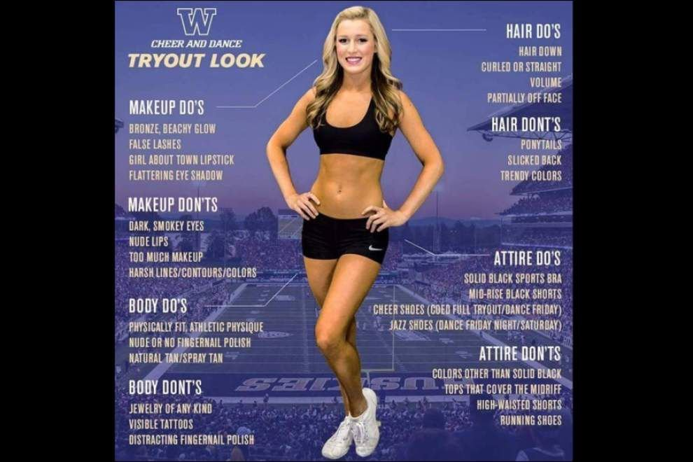 LSU-like 'tryout look' flier reportedly draws big backlash at University of Washington _lowres