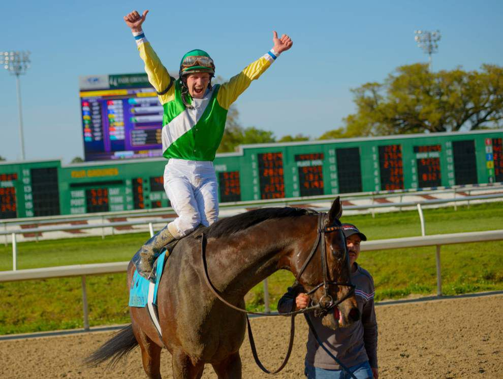 Jockey James Graham, trainer Tom Amoss and owner Maggi Moss earn Fair Grounds meet honors _lowres