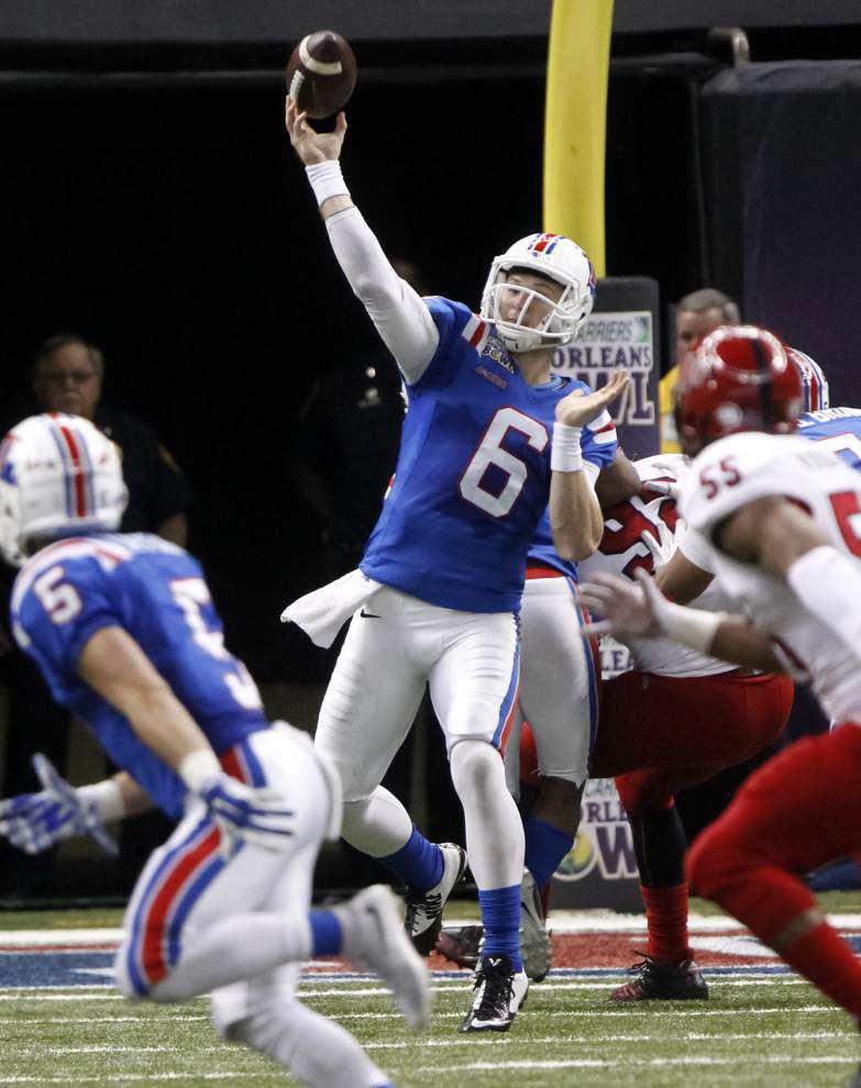 Kenneth Dixon's record night lifts Louisiana Tech to 47-28 victory over Arkansas State in New Orleans Bowl _lowres