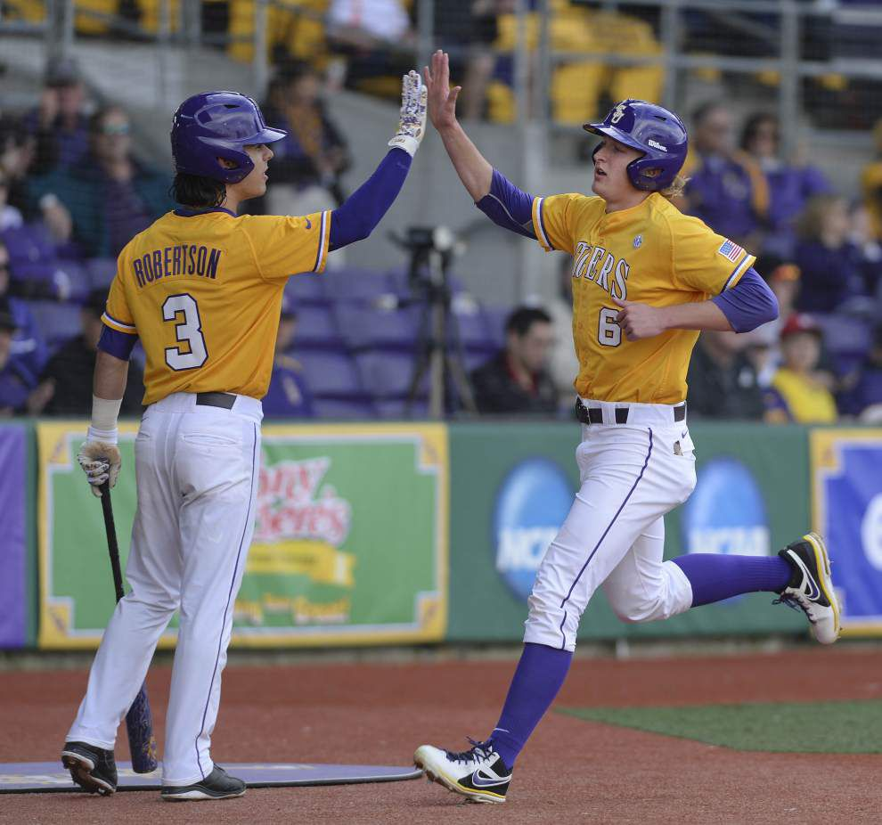 Danny Zardon leads LSU to bounce-back win over Boston College in Game 1 of a DH _lowres