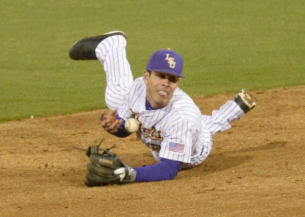 Jake Fraley's two-run triple propels LSU to 9-8 win over Southeastern Louisiana _lowres