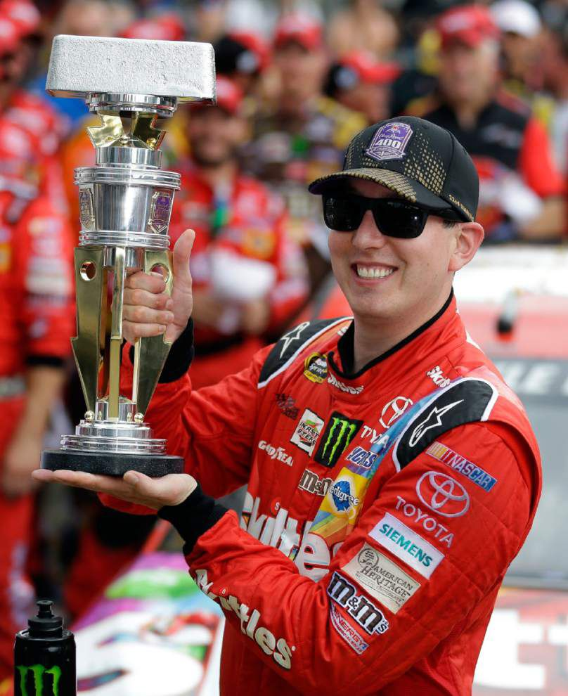 At the Brickyard 400, Kyle Busch makes it three straight Sprint Cup wins _lowres