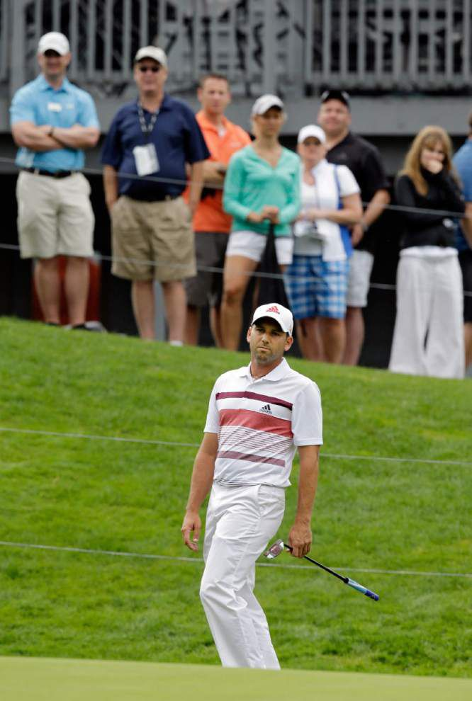 Sergio Garcia clings to 3-shot lead _lowres