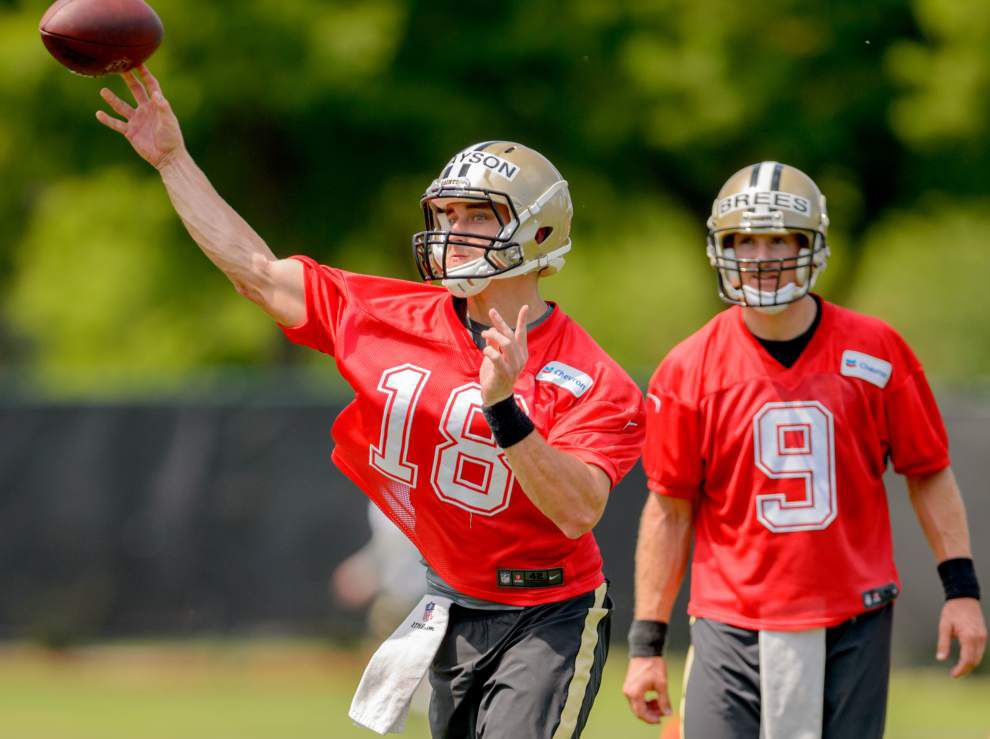 Notes from Saints OTAs: Breaking down each Drew Brees, Garrett Grayson pass; a look at offensive, defensive starters _lowres