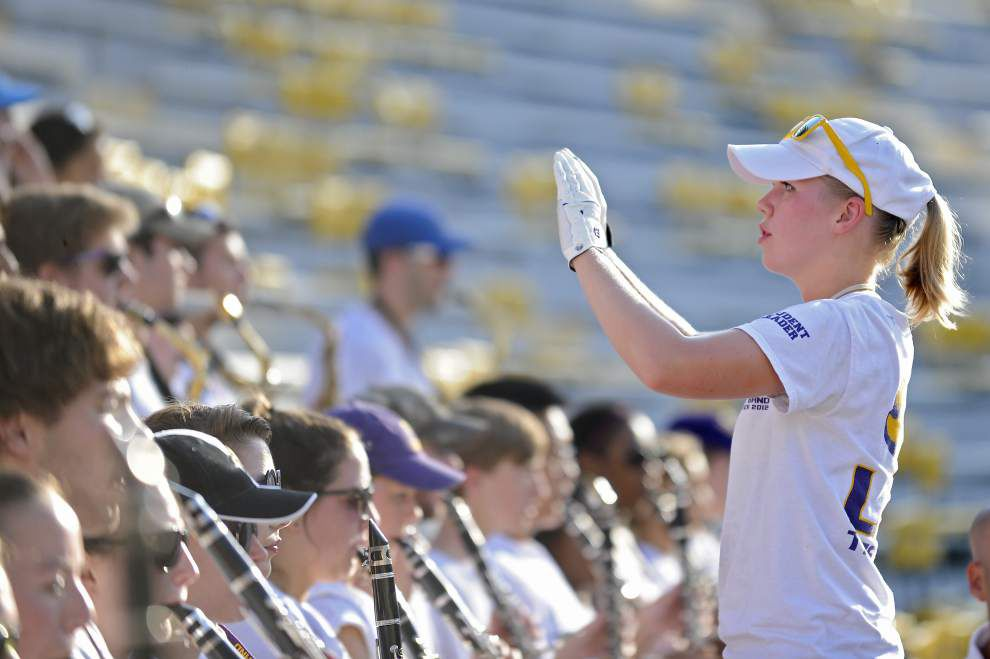 LSU band ushers in football season in traditional style _lowres
