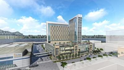 Rendering of proposed Convention Center Omni Hotel (copy)