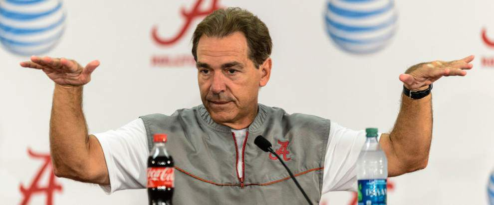 Report: Alabama coach Nick Saban sold his home to the Crimson Tide Foundation for $3.1 million in 2013 _lowres