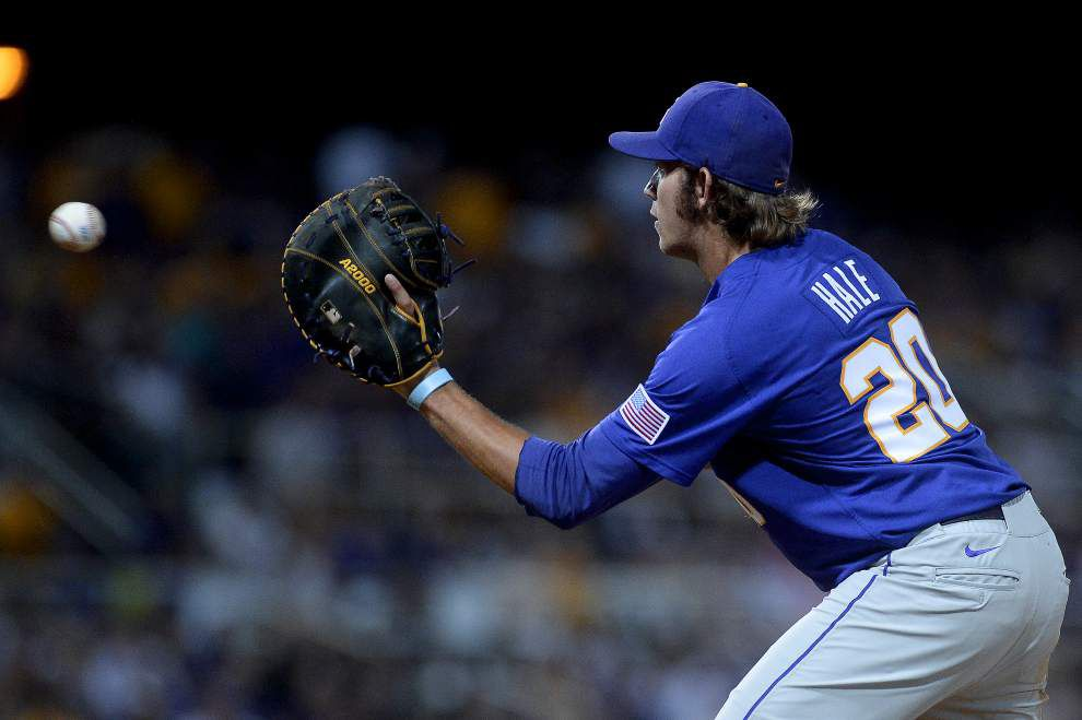 Conner Hale transitioning across the diamond for LSU baseball _lowres