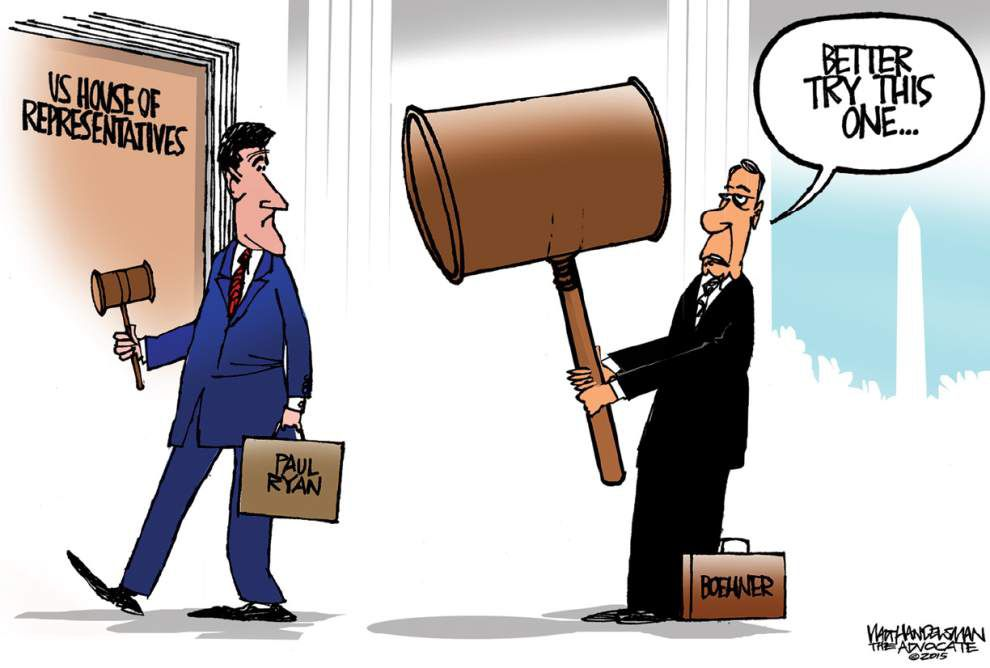 Walt Handelsman: Paul Ryan's turn _lowres