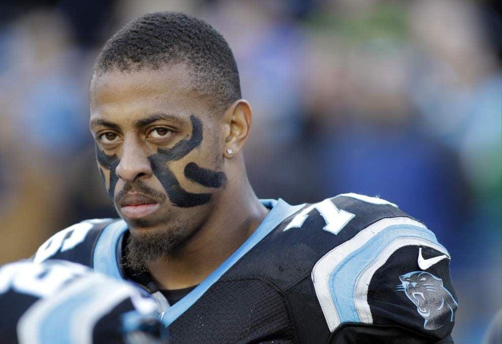 Carolina Panthers may blitz more without Greg Hardy _lowres