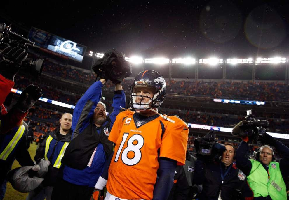 Lewis: After Sunday's turbulent playoff exit, the end could be near for Peyton Manning _lowres