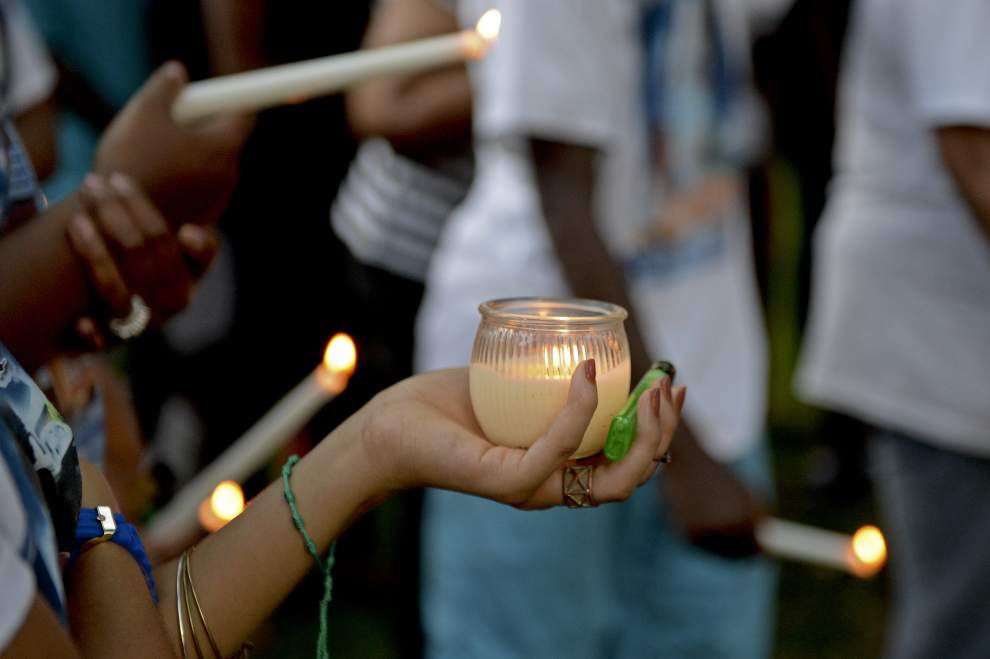 Candlelight vigil held in memory of Brandon Augusta _lowres