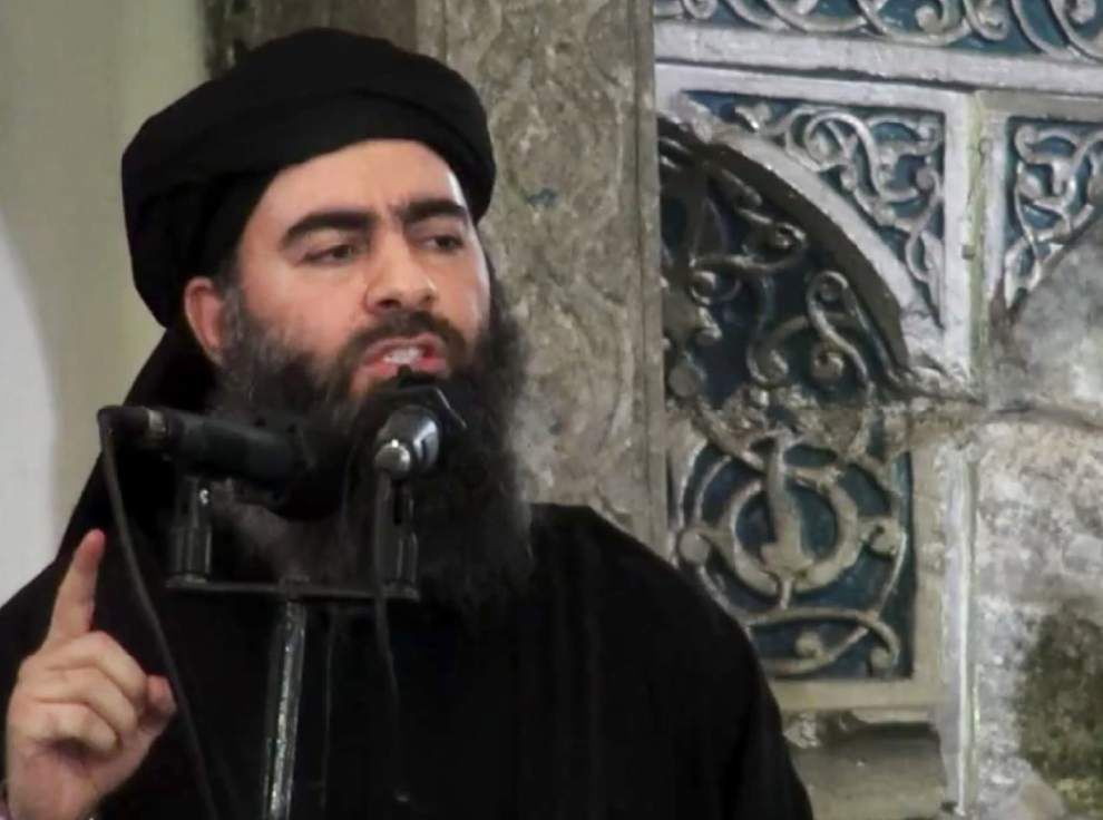 Iraqi officials say Islamic State leader wounded in coalition airstrike _lowres