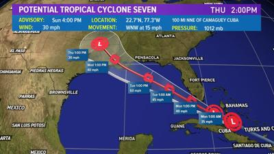 potential tropical cyclone forms tropical storm watch for south