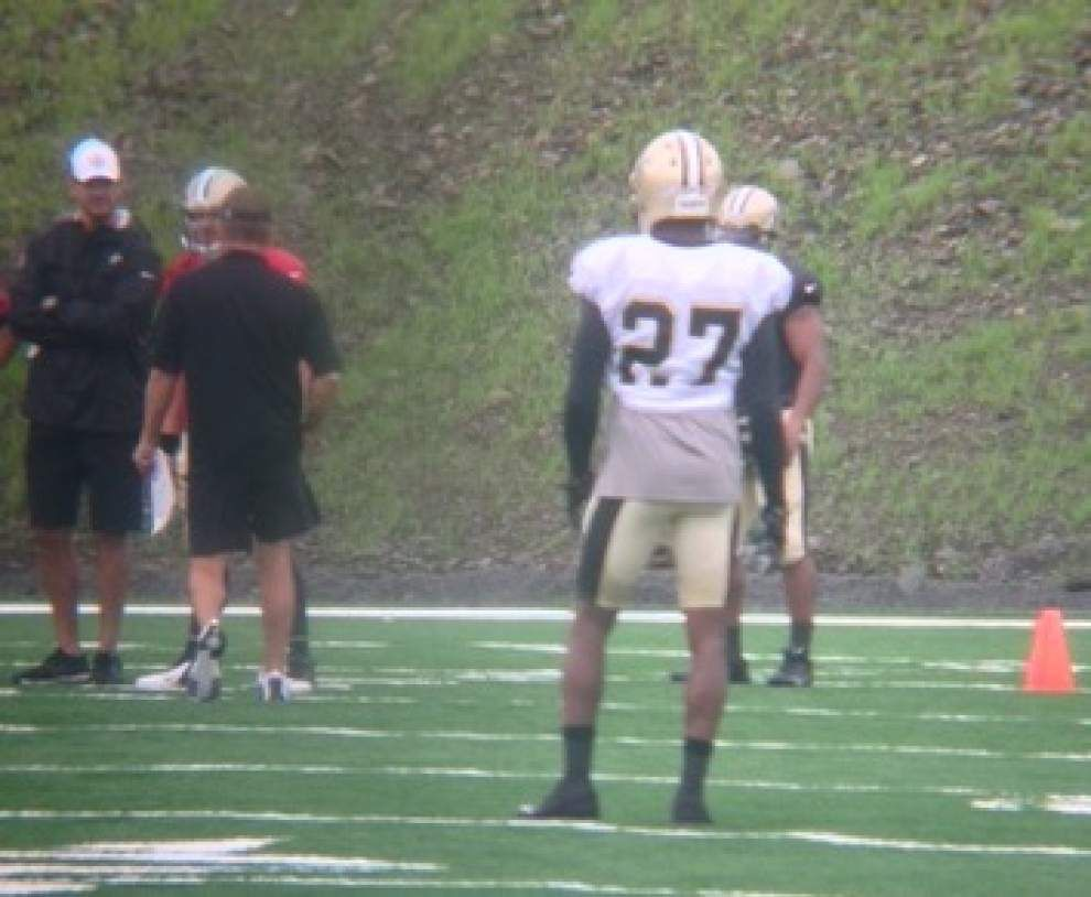 Video: Brees, Bailey back in pads, secondary has highs, lows _lowres