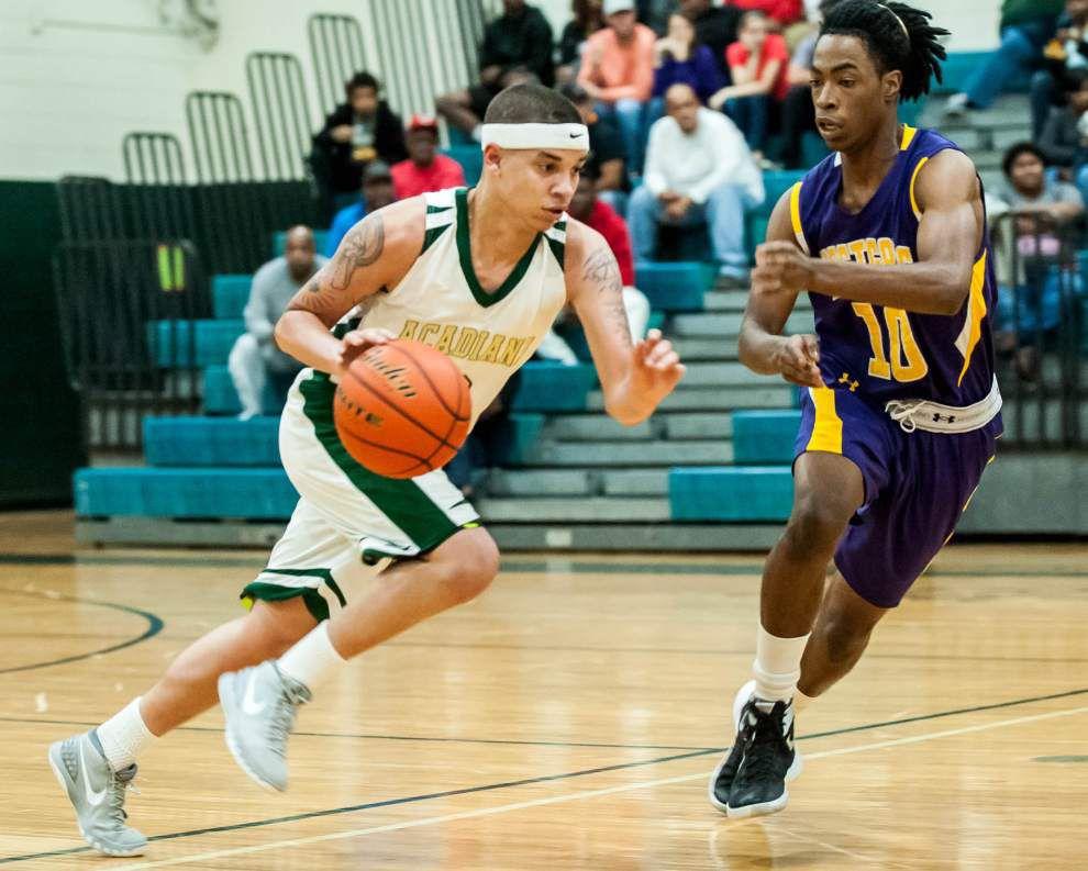 Junior Myles Hutchinson, Acadiana basketball team rounding into form _lowres