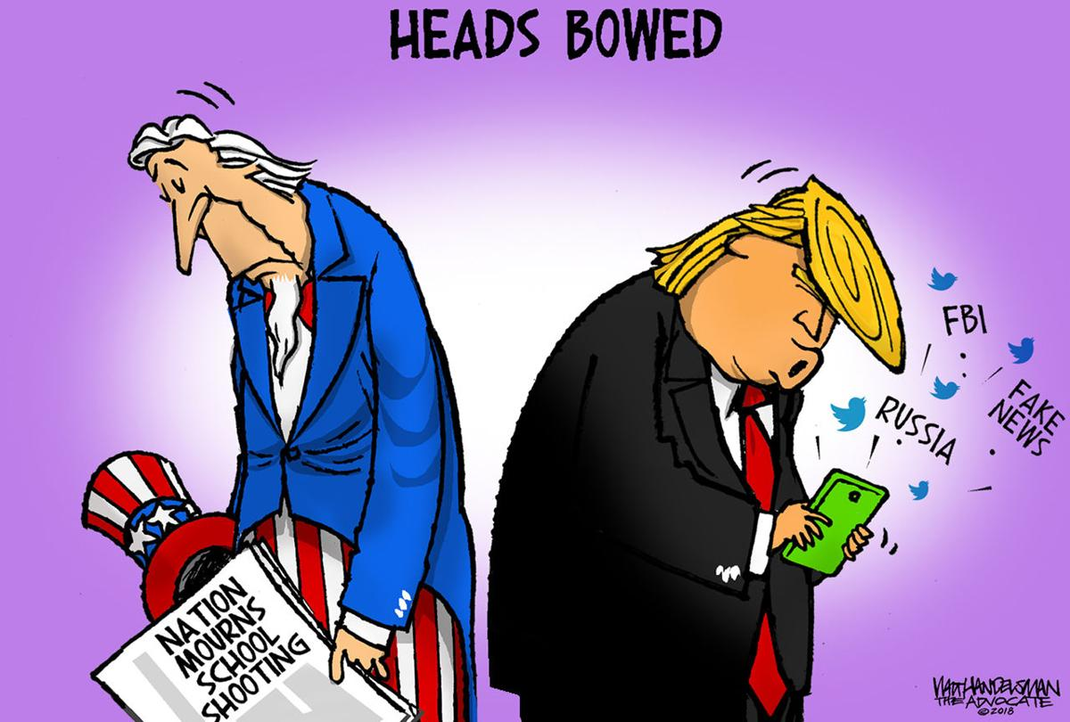 Walt Handelsman: Heads Bowed