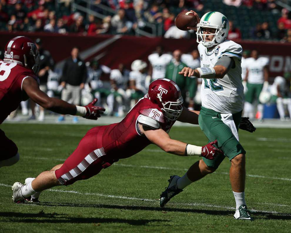Tulane at Navy: Is Green Wave quarterback Tanner Lee all set after his concussion? _lowres
