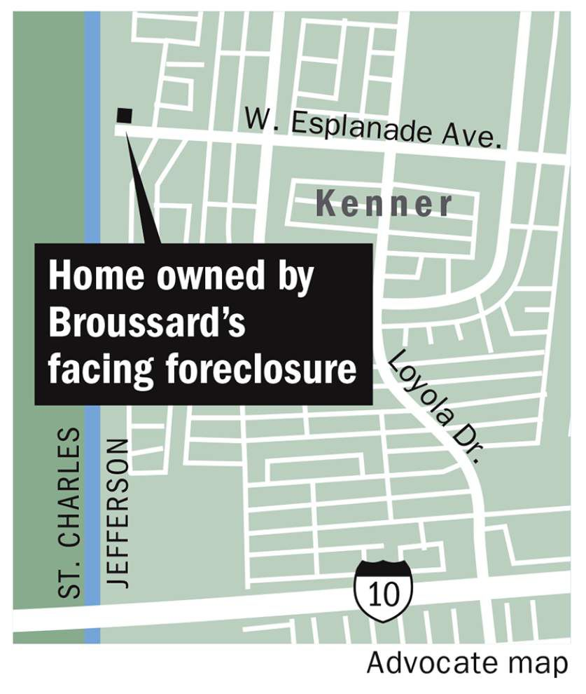 Former Jefferson President Aaron Broussard, ex-wife facing foreclosure on Kenner home _lowres