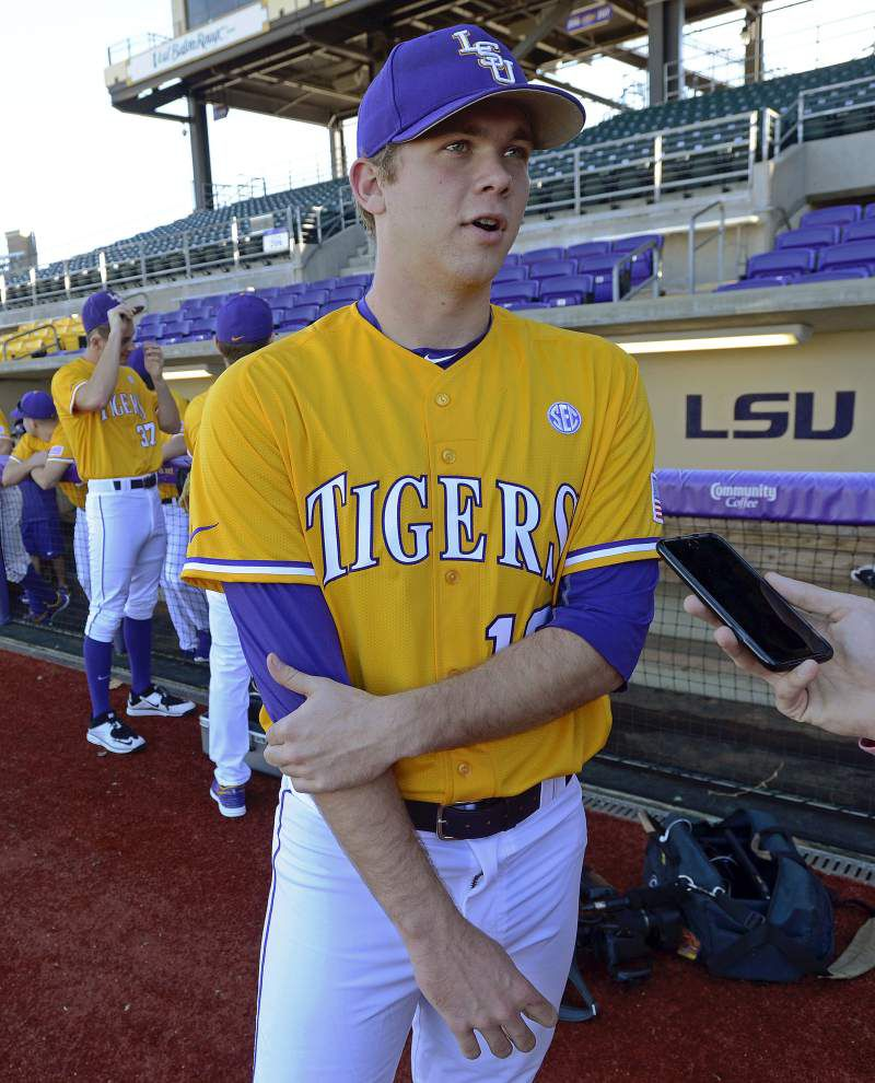 LSU pitcher Austin Bain sees more good days ahead after offseason surgery _lowres