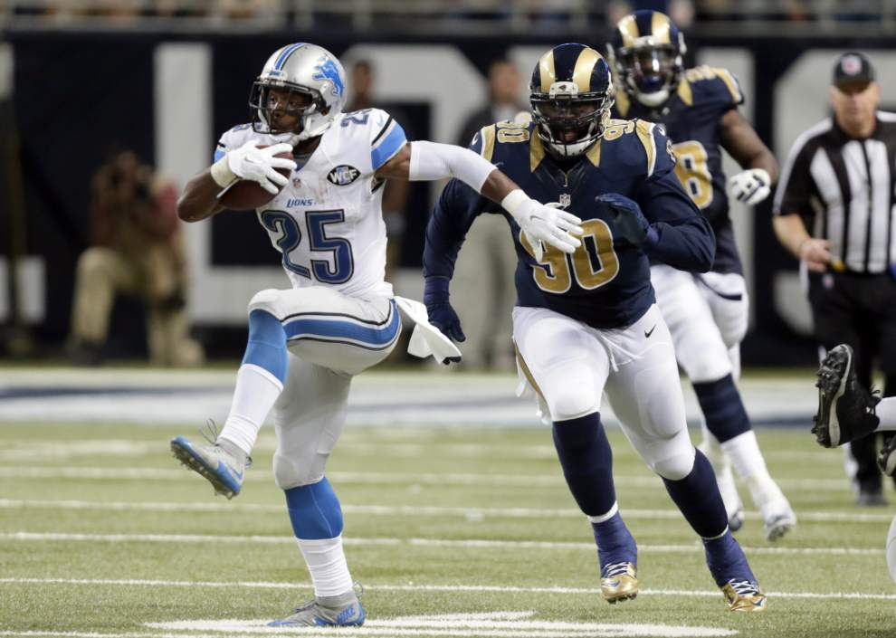 As NFL's best receiver coming out of backfield, Lions RB Theo Riddick presents Saints defense with another challenge Monday _lowres