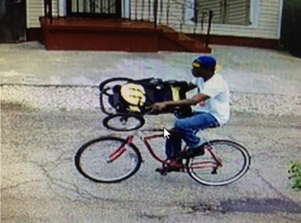 VIDEO: Bicycle suspect sought in theft of assault rifle from vehicle _lowres