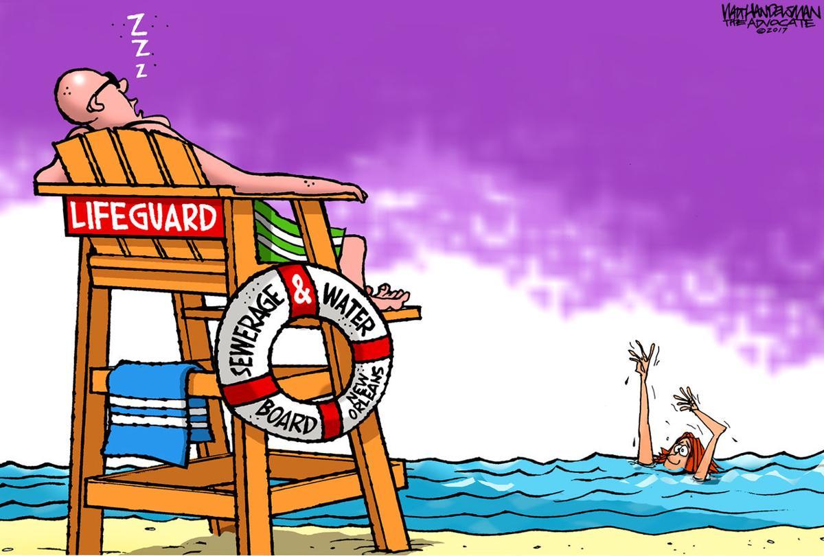 Walt Handelsman: Lifeguard Duty
