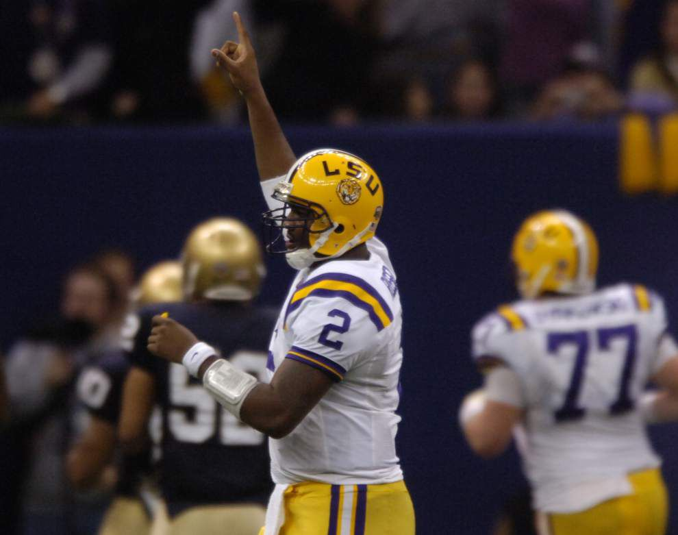 Dellenger: Sure sounds like LSU's quarteback battle between Anthony Jennings, Brandon Harris is back on _lowres