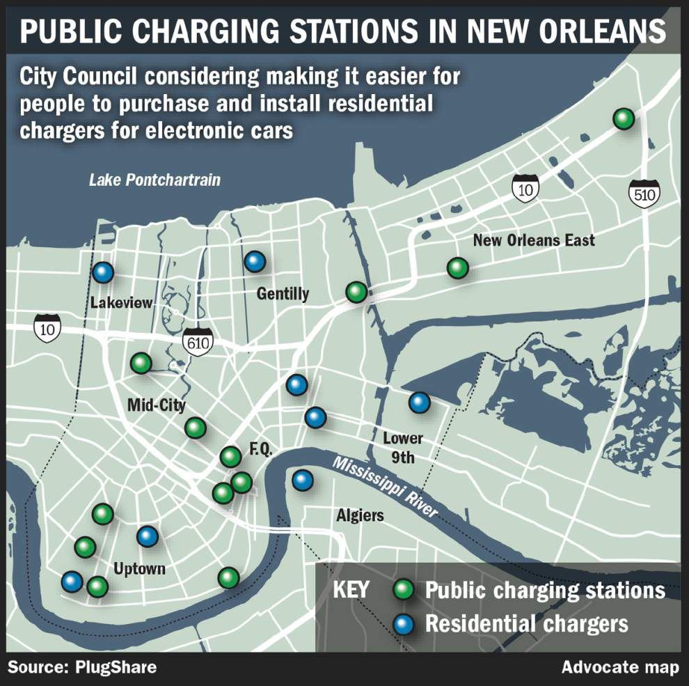 New Orleans City Council considers allowing electric vehicle charging stations on public property _lowres