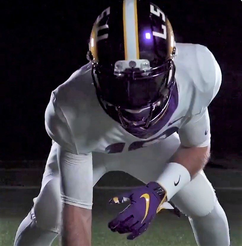ef99578d How LSU's color-changing helmets came to be, and the story of $1,500 ...