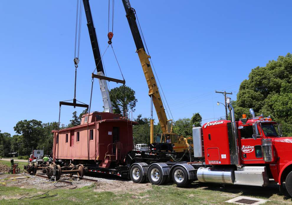 Caboose finds new home in Jackson _lowres