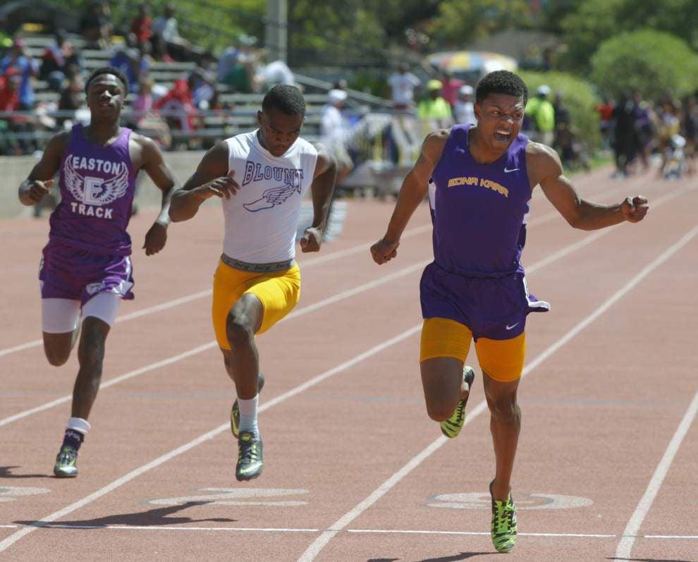 Hahnville's Brandon Singleton wins 110-meter hurdles at Allstate Sugar Bowl Track & Field Classic _lowres