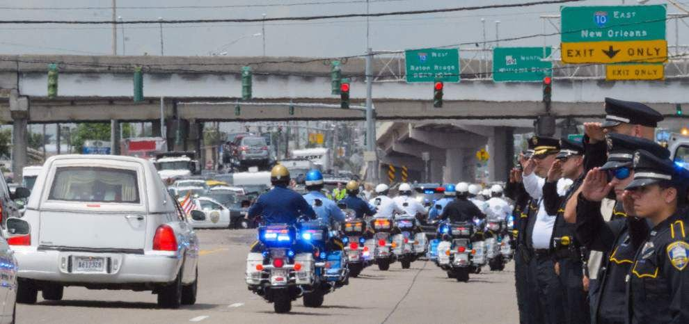 Housing Authority of New Orleans officer James James Bennett laid to rest _lowres