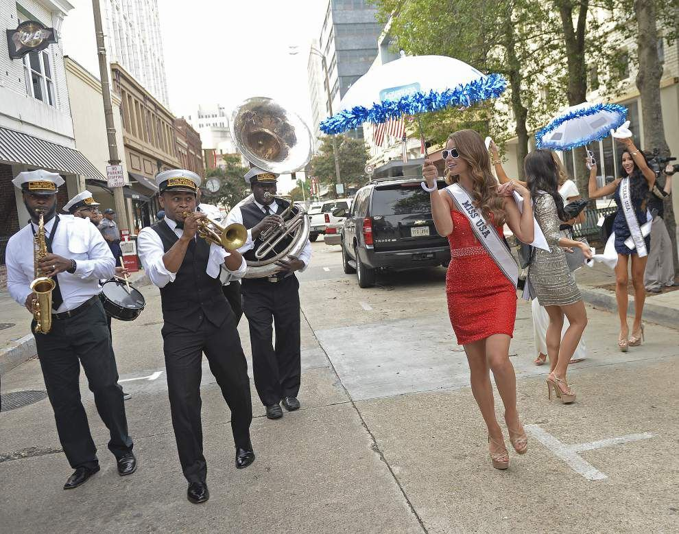 Photos: Miss USA contestants hold baby alligators, second line in the streets at Baton Rouge reception _lowres